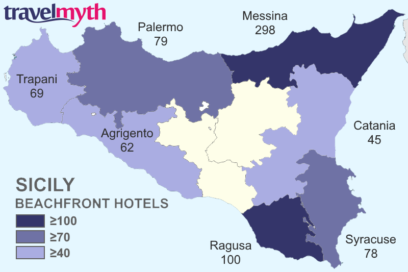Mediterranean Islands With The Most Beachfront Hotels Sicily Crete
